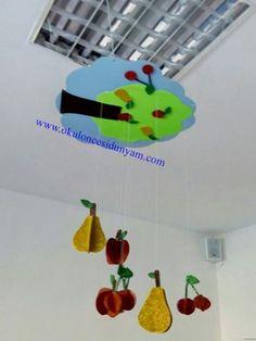okul öncesi mevsimler mobil örnekleri