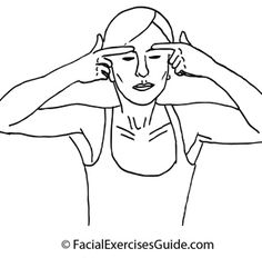 Droopy Upper Eyelids Facial Exercise