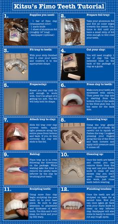 Fimo Teeth Tutorial...haha should've been in crafty ideas but couldn't resist putting here, I may need these some day..lol!!!!