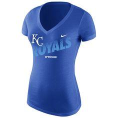 Kansas City Royals Women's 2014 Postseason Mezzo Mid V Triblend T-Shirt by Nike