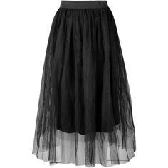 Boohoo Ava Boutique Full Tulle Midi Skirt ($16) ❤ liked on Polyvore featuring skirts, holographic skirt, pleated mini skirt, circle skirt, pleated skirt and midi skirt