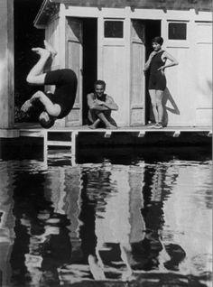 Jacques Henri Lartigue - Charly, Rico et Sim, Rouzat, 1913