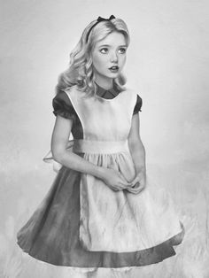 Alice Pencil Drawing