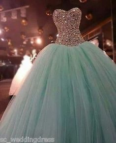 New Beaded Quinceanera Prom Dress Party Pageant Ball Gowns Wedding Dresses