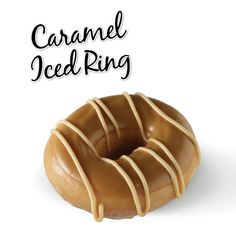 Krispy Kreme // Caramel Iced Ring - Our signature ring doughnut, hand-dipped in a sweet caramel icing & topped with a smooth fudge drizzle.