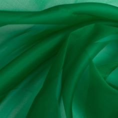Kelly Green Silk Organza