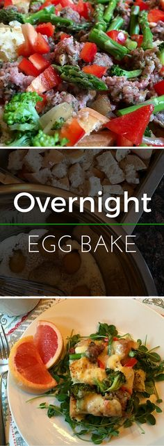This Overnight Egg Bake is full of flavor and nutrition! Prepare the ingredients ahead of time for an easy morning meal solution. | Clearly Organic Nutritionist Corner
