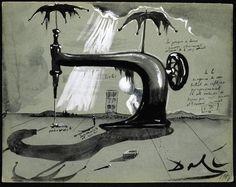 Machine a coudre aux parapluies, 1951, by Salvador Dalí
