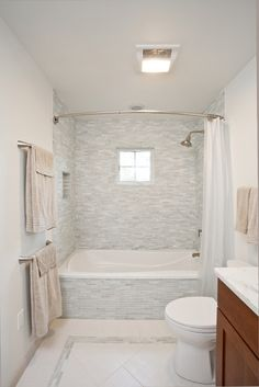 Bathroom reno ideas on pinterest cleanses pocket doors for Easy clean bathroom design