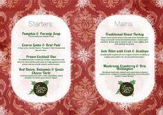 Christmas menu 2011 for Loose Box based in Leamington Spa