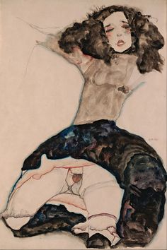 Egon Schiele - Black-Haired Girl with Lifted Skirt - Google Art Project.jpg