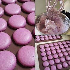 Svatební makronky jsme zvládli a zvolili jsme pro ně borůvkovou barvu (i když na… Baking Cupcakes, Cupcake Cakes, Macaron Recipe, Sweet Cookies, Sweets Cake, Happy Foods, How Sweet Eats, Mini Cakes, Macaroons