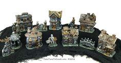 DIY Painted Halloween Village. www.taketimetocreate.com