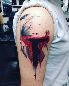 Boba Fett shoulder tattoo