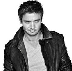 Love the smirk and leather jacket, Jeremy!