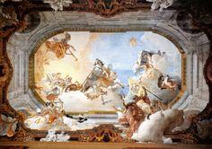 ceiling tiepolo painting paintings renaissance rococo wall canvas fresco painted renesans cityzenart 18th century