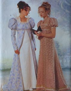 English Regency Gown Costume Sewing Pattern