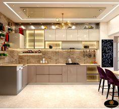 Modern Kitchen Tiles, Kitchen Modular, Modern Kitchen Interiors, Interior Modern, Modern Luxury, Modern Kitchen Designs, Modern Kitchen Furniture, Small Modern Kitchens, Contemporary Kitchen Design