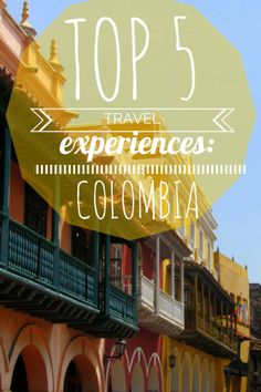 Top 5 #Travel Experiences in #Colombia from The Great Wide Somewhere Travel Blog!   Vacation Ideas, Cheap Vacation Ideas, Travel to Colombia, Cartagena, Tayrona