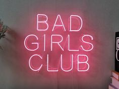New Bad Girls Club Neon Sign Beer Bar Sign Eye-catching Wall Display Pink Tumblr Aesthetic, Boujee Aesthetic, Badass Aesthetic, Bad Girl Aesthetic, Aesthetic Collage, Aesthetic Bedroom, Bad Girls Club, Bad Girl Wallpaper, Pink Wallpaper Iphone