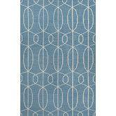 Found it at AllModern - Maroc Geometric Blue/Ivory Area Rug