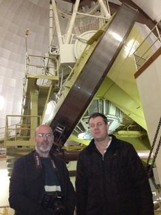 2014 Feb 20: Two Great Comet Discoverers: Rob MacNaught (left) and Terry Lovejoy (right) at Siding Spring Observatory. (Courtesy: iTelescope.net, AU)