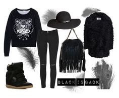 """BLACK IS BACK"" by isabelle96-1 on Polyvore featuring Kenzo, Isabel Marant, STELLA McCARTNEY, Cheap Monday and H&M"