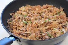 Vitkål- & köttfärspanna Chipotle Chicken, Recipe For Mom, Lchf, Fried Rice, Diet Recipes, Good Food, Veggies, Food And Drink, Dinner