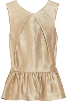 Mulberry Metallic crepe peplum top, $360 (originally $600), available at Net-A-Porter.
