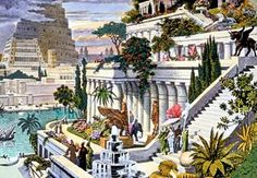 The Hanging Gardens of Babylon-- one of the Seven Wonders of the Ancient World, is the only one whose location has not been definitively established. The Hanging Gardens were a distinctive feature of ancient Babylon. They were a great source of pride to the people. Possibly built by King Nebuchadnezzar II in 600 BC, the gardens are believed to have been a remarkable feat of engineering: an ascending series of tiered gardens containing all manner of trees, shrubs, and vines.