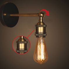Find More Wall Lamps Information about Vintage Wall Lamps Retro Loft LED Wall Lights Stair Bathroom Iron Wall Sconce Abajur Luminaria Indoor Lighting Fixtures         ,High Quality Wall Lamps from Zhongshan East Shine Lighting on Aliexpress.com
