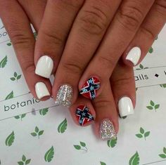 Pin by caitlyn wilcox on nails pinterest country nails confederate flag nails prinsesfo Gallery