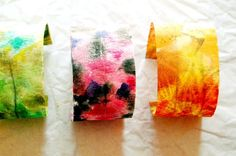 heArt Makes: washi tape watercolor fall bracelets