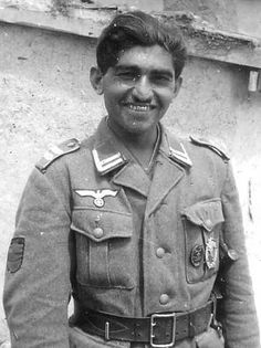 Indian Aryan in the Nazi army...thankfully without the Waffen SS insignia