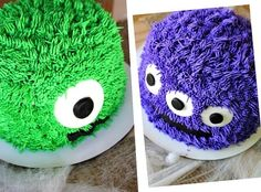 Monster Cakes! i dont know why i think these are so cute