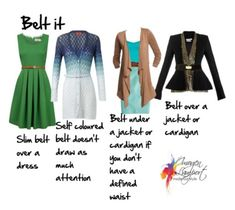 How to belt it in style. Belt under cardigan/jacket  + belt over dress