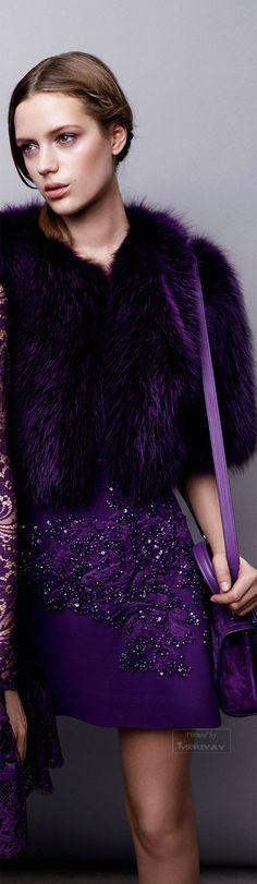 Elie Saab.Pre-Fall 2015. - Purple Christmas | Pinterest