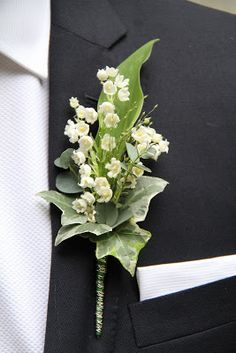 Flower Design Buttonhole & Corsage Blog: Lily of the Valley Boutonniere for The Groom