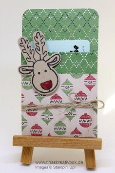 Gutschein Verpackung mit Stampin Up Ausgestochen Weihnachtlich