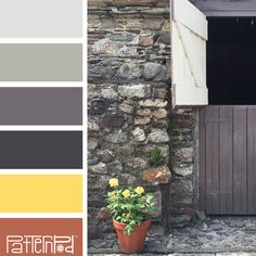 Color Palette - shades of grays yellow and terra cotta.  Photo by Pattern Pod.  If you like our color inspiration, sign up for our monthly trend letter here! http://patternpod.us4.list-manage.com/subscribe?u=524b0f0b9b67105d05d0db16a&id=f8d394f1bb&utm_content=buffer847d9&utm_medium=social&utm_source=pinterest.com&utm_campaign=buffer