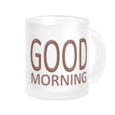 Good morning mug - barn red