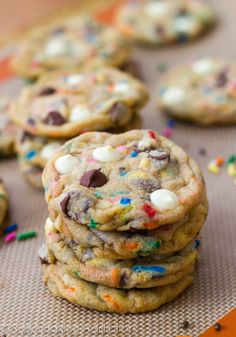Cake Batter Chocolate Chip Cookies recipe | Top & Popular Pinterest Recipes....172 pins from a board called desserts yum....Looks like one sweetly rich dessert. :-)