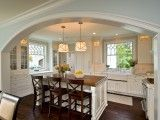 Love the archway to this kitchen.