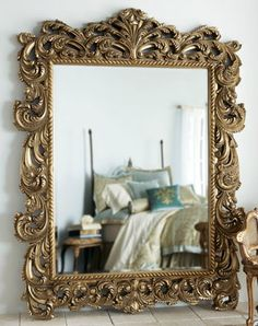 Shop decorative wall and floor mirrors at Neiman Marcus. Reflect light back into your home with elegant and dramatic mirrors that go in any room. Antique Floor Mirror, Mirror Mirror, Home Decor Mirrors, Wall Decor, Colourful Living Room, Modern Materials, Home Remodeling, Interior Decorating, House Styles