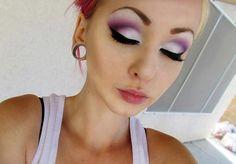 Violet pin up makeup