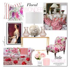 """Floral Wonder"" by arethaman ❤ liked on Polyvore featuring interior, interiors, interior design, home, home decor, interior decorating, JAG Zoeppritz, Designers Guild, Cultural Intrigue and Chanel"