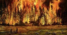 Wildland Firefighter Painting  Would love to find where to get this!