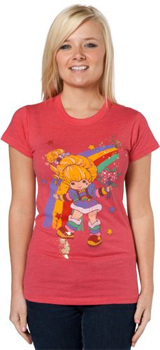 Foil Rainbow Brite T-Shirt by Junk Food  I love the vintage shirts! And when I was little I had a coloring book of these characters! I didn't think I'd ever see them again.