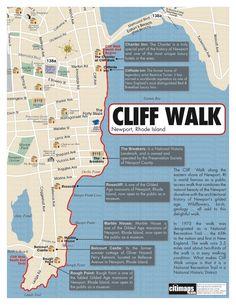 Katie Wanders : The Cliff Walk -- Newport, Rhode Island Asia Ray, East Coast Travel, East Coast Road Trip, New England States, New England Travel, New Hampshire, Newport Cliff Walk, Le Vermont, Voyage Usa