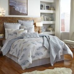 Wake up to spring with these nature-inspired quilts and comforters from Shell Rummel.